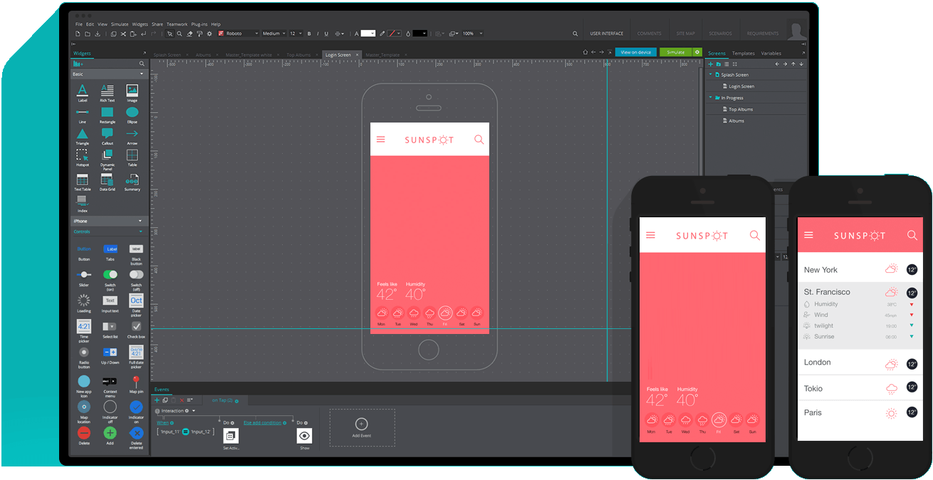 Wireframing tool for mobile apps